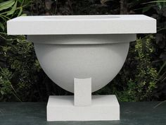 Westcott Pergola Garden Fountain - This concrete fountain is sure to present an elegant water feature. Customize this urn to your own fountain specifications. The Westcott Pergola planters were created for the Burton J. Westcott house.  [ TheGardenFountainStore.com ]