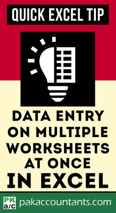 Data Entry on Multiple Worksheets at once - Excel formulas and functions - Basic Excel Formulas Computer Help, Computer Programming, Computer Tips, Microsoft Excel Formulas, Excel Hacks, Ms Project, Data Entry, 3d Printing, Technology