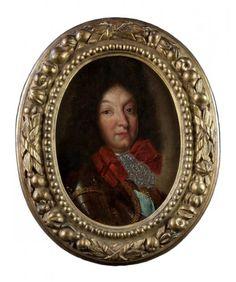 Ecole française du XVIIe siècle - Portrait du roi Louis XIV