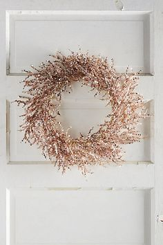 OMG gorgeous!!!!!!! Rosy Wreath #anthropologie