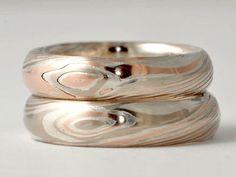 mokume gane wedding rings