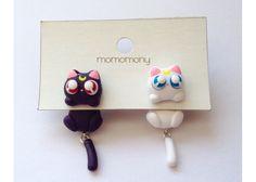 Momomony: Aretes Luna y Artemis Sailor Moon - Kichink!