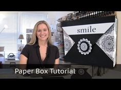 Video Tutorial - Handmade Black & White Gift Box with Stampin Up Product