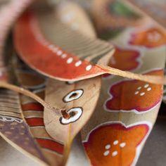 bicocacolors: hojas pintadas