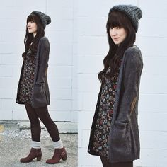 Razzle Dazzle Cardigan, Cat Footwear Annette, Urban Outfitters Floral Dress