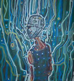 Modern acrylic paints on MDF board 93x103 cm. Untitled: 27122016.  Artist: Piotr Banachowicz., Poland