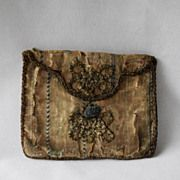 Antique Early 1700s English,Georgian Silk Purse, Pocketbook