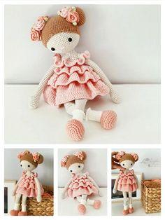 Crochet Hot Pads, Crochet Baby Toys, Crochet Bunny, Cute Crochet, Crochet Dolls Free Patterns, Tatting Patterns, Crochet Doll Pattern, Amigurumi Patterns, Wool Dolls