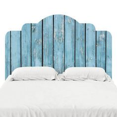Designed to look like the real deal, these adhesive headboard decals are printed on our popular FabTac material — the same material we use for our wallpaper. They can be removed, reused, an Fence Headboard, Headboard Decal, Deco Originale, Headboard Designs, Headboards For Beds, Pallet Headboards, Diy Pallet Projects, Trendy Bedroom, Bedroom Decor