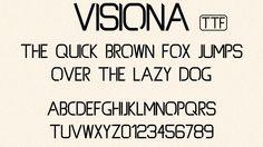 Visiona font (BETA) by TheGoldenBox