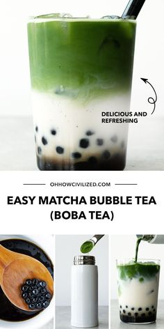 If you love Matcha and Boba Tea, then you're in for a treat with this recipe. Take it from a tea sommelier - learn the easy steps in this tutorial. Click to continue! How To Make Matcha, How To Make Tea, Matcha Milk, Matcha Green Tea, What Is Matcha, Bubble Tea Straws, Hot Tea Recipes, Best Matcha, Homemade Bubbles