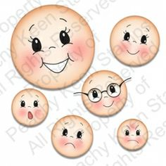 $25.00  PK-531 Simple Sallies Face Assortment