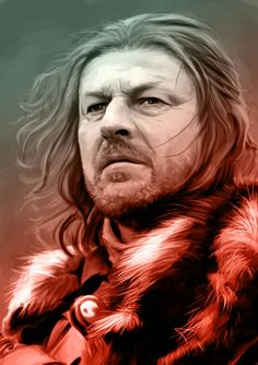 Big Ned from Game of Thrones, cool as fuck. Sean Bean - your da thinks he's awesome and your ma secretly fancies him. Game Of Thrones Artwork, Game Of Thrones Poster, Game Of Thrones Cast, Got Stark, Eddard Stark, Game Of Thrones Costumes, Sean Bean, Dire Wolf, Art Drawings Sketches