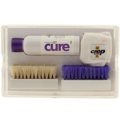 Crep Protect Cure The Ultimate Shoe Cleaner Kit (white)Cure Cleaning Kit – Our premium shoe cleaning kit.Contains our biodegradable cleaning solution, premium natural white horse hair brush for gentle materials, bristle br Shoe Cleaner, Clean Shoes, Cleaning Kit, Cleaning Solutions, Biodegradable Products, The Cure, Packaging, Board, Christmas