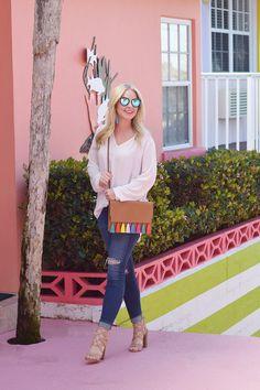380b6073ba6b5 Rebecca Minkoff Sophia   Sam Edelman Yardley Sandals - Spring Break Outfit  Inspo Cute Fashion