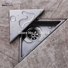 Hidden Type Triangle Tile Insert Floor Waste Grates Bathroom Shower Drain ,304 Stainless Steel Floor Drain