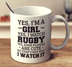 Find rugby mugs with funny quotes. Perfect if you're seeking gifts for rugby fans or players. Each novelty rugby mug has a quality ceramic design. Rugby Memes, Rugby Funny, Rugby Quotes, Nrl Memes, Higher Level Teaching Assistant, Nursery Assistant, Watch Rugby, Rugby Girls, I Cant Help It