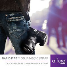 Rapid Fire Quick Release Shoulder Neck Strap for DSLR Cameras | Altura Photo - Photo for all