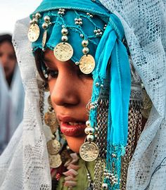 North African Tribal Girl.