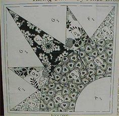 Vintage Quilt Pattern Rising SUN Burst 1940s Pieced Mail Order Brooks Pieced