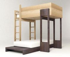modern bunk bed with solid hardwood and ply construction
