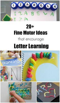 Fine Motor Ideas that Encourage Letter Learning