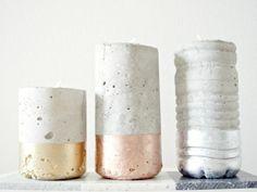 Dieser schlichte Beton Kerzenständer passt perfekt in jede Umgebung. Die Kombination aus Beton, Kerze und trendigen Metallic Tönen machen ihn zu einem echten Hingucker!