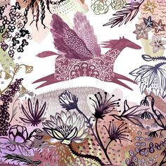 Katie Vernon's illustrations are characterised by rich pools of deep hues and accents of delicately drawn details. We take a look at some examples of her warmly decorative work. Katie's work really…