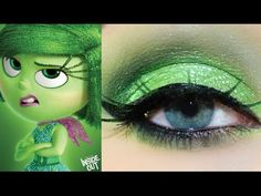 PIXAR'S INSIDE OUT- DIsgust Inspired Makeup Tutorial - YouTube