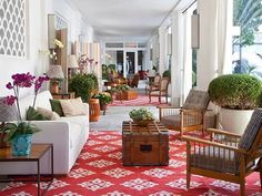 """http://www.facebook.com/PortalQuo """"Brasilidade"""" is the theme that sets the tone of the new face of the Copacabana Palace Hotel, signed by Interior Designer Marina Linhares."""