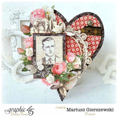 Romantic cards using Mon Amour from Mariusz #graphic45