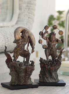 Fujin,Raijin:ancient oriental god of the Wind.