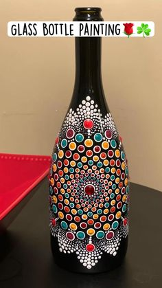 Diy Crafts For Home Decor, Diy Crafts For Gifts, Diy Arts And Crafts, Glass Bottle Crafts, Bottle Art, Bottle Painting, Diy Painting, Glass Painting Designs, Galaxy Wallpaper