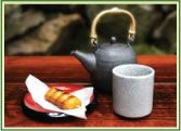 When you're at the cafe, have a cup of tea and taste popular Japanese refreshments and snacks.