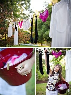 Garden party lingerie bridal shower by Eminence Photography || see more on artfullywed.com