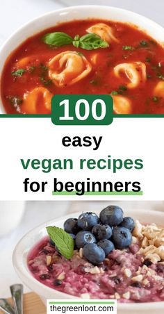 recipes for beginners Going Vegan in 2019 - The Ultimate Guide for Beginners These 100 Easy Vegan Recipes for Beginners will help you make simple, but tasty meat-, dairy-, and egg-free meals even if you have no experience. Vegan Recipes Beginner, Best Vegan Recipes, Vegan Dinner Recipes, Cooking Recipes, Healthy Recipes, Vegan Recipes Simple, Best Vegan Meals, Vegan Recipes For Kids, Vegan Recipes Easy Healthy