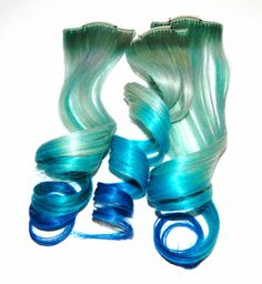 Pastel Mermaid Ombre Clip In Human Hair by CandyAppleLocks on Etsy, $28.00