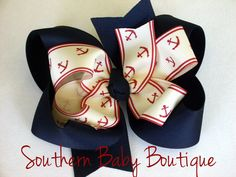 NEW----Big Boutique Doubled Layered Hair Bow Clip----Anchors---- by SOUTHERNBABYBOUTIQUE on Etsy https://www.etsy.com/listing/99080576/new-big-boutique-doubled-layered-hair