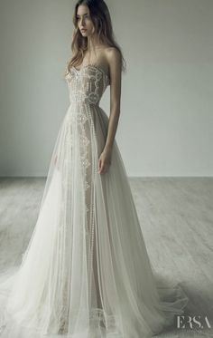 Featured Dress: Ersa Atelier; Wedding dress idea.