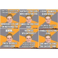 funny hunger games pictures | Hunger Games~Funny Peeta - Polyvore