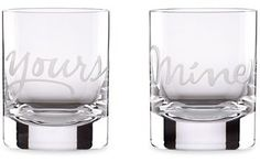 Kate Spade New York 'two Of A Kind' Glasses (Set Of 2) // perfect addition to a wedding registry of as a bridal shower gift for a classic bride!