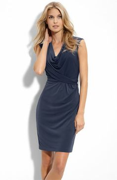 Dress ordered for Doodle's wedding - yay! Donna Ricco Cowl Neck Matte Jersey Dress | Nordstrom