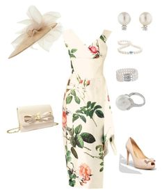 """""""Royal garden party"""" by hshprincessgebevieve ❤ liked on Polyvore featuring Vivienne Westwood Gold Label, Salvatore Ferragamo, Betsey Johnson, Tiffany & Co. and Blue Nile"""