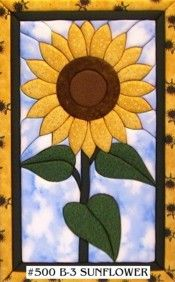 SUNFLOWER No sew quilt kit