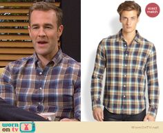 Will's blue and yellow plaid shirt on Friends with Better Lives.  Outfit Details: http://wornontv.net/32814/ #FWBL