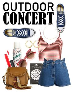 """""""60 second style #2"""" by indigo-lilburn-quick on Polyvore featuring Topshop, Converse, Valentino, Batiste, MAC Cosmetics, Chloé, Avenue, Zoë Chicco, 60secondstyle and outdoorconcerts"""