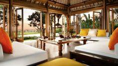 Bali villa with an open, no walls layout