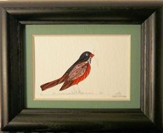 Quilled Little One Robin Bookcase Art