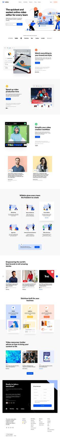 Wibbitz landing page design inspiration - Lapa Ninja Web Design Mobile, App Design, Branding Design, Site Design, Corporate Design, Flat Design, Design Responsive, Architecture Quotes, Ui Design Inspiration