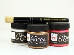 Looking for the PERFECT stencil paint for walls, furniture, and even fabric? Look no further! Our Royal Stencil Cremes are the ultimate cream-based stencil paint for experienced and beginning stencil artisans alike. The dreamy, cream formula glides off your stencil brushes for excellent coverage and flow with less brush reloading!  Stencil Creme paints dry quickly to a hard, durable surface and work on all the surfaces you want to stencil on - smooth to textured.